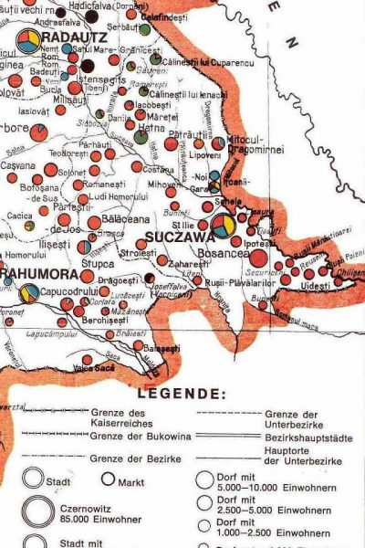מפת דרום מזרח בוקובניה 1910