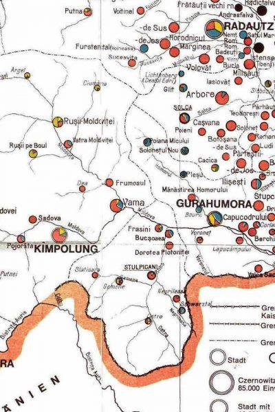 מפת דרום מרכז בוקובניה 1910