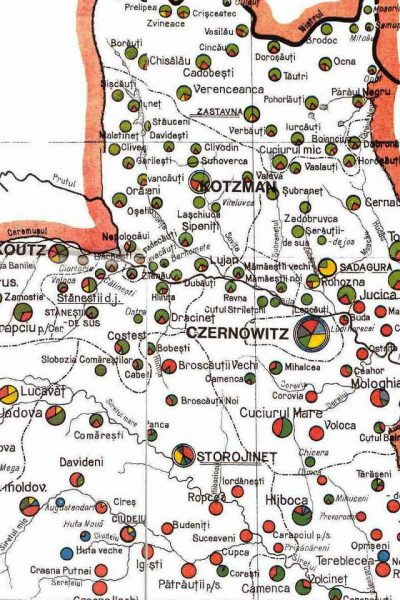 מפת צפון מרכז בוקובניה 1910